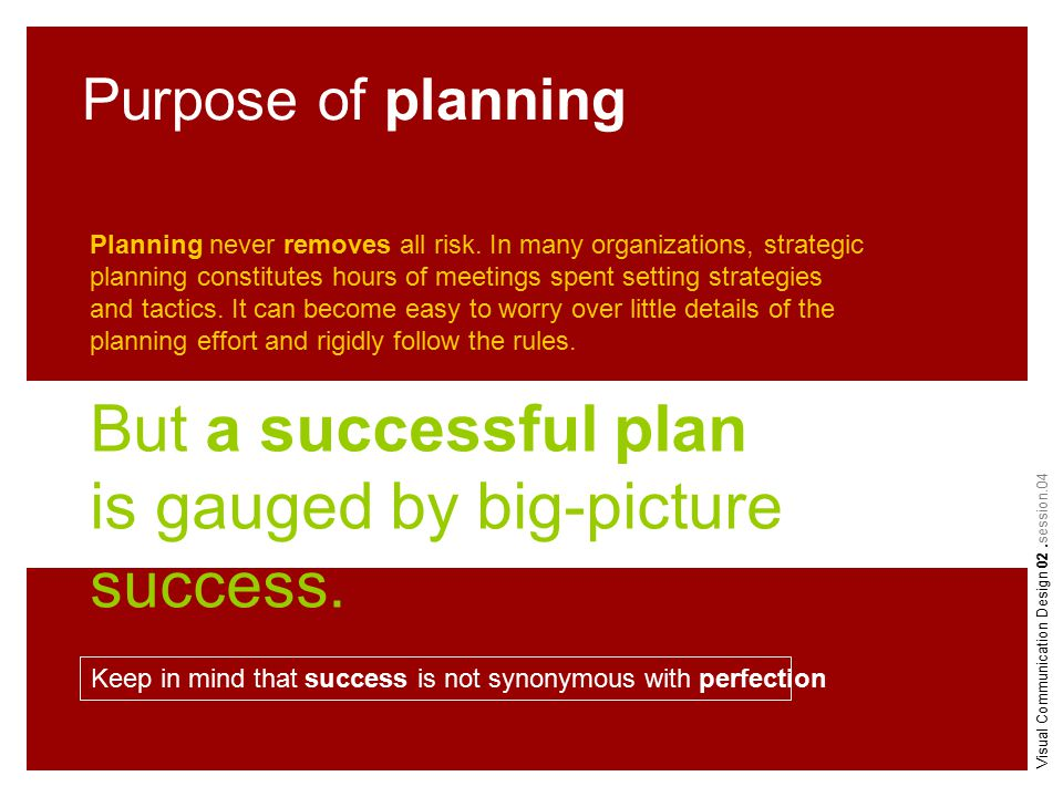 Planning never removes all risk.