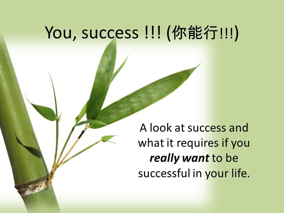 You, success !!.( 你能行 !!.