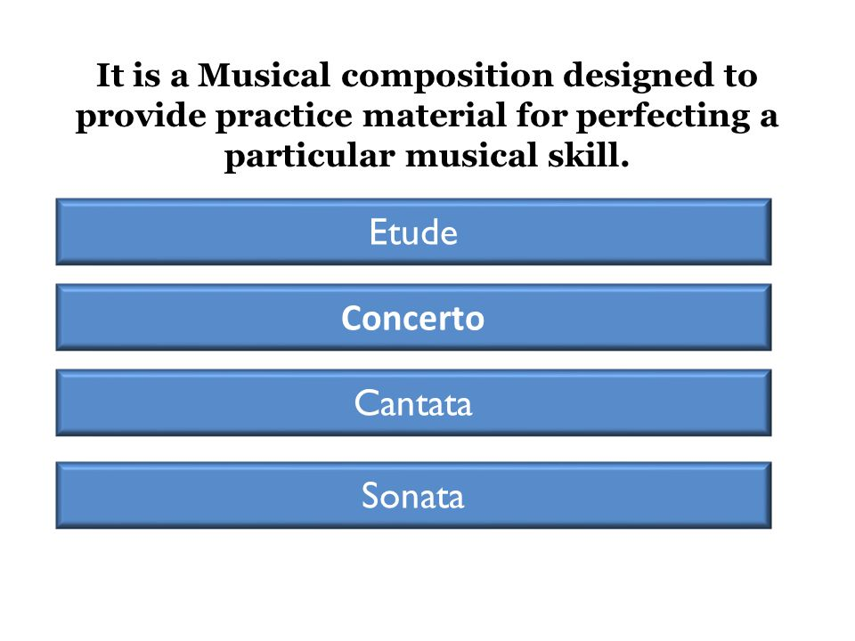 It is a Musical composition designed to provide practice material for perfecting a particular musical skill.