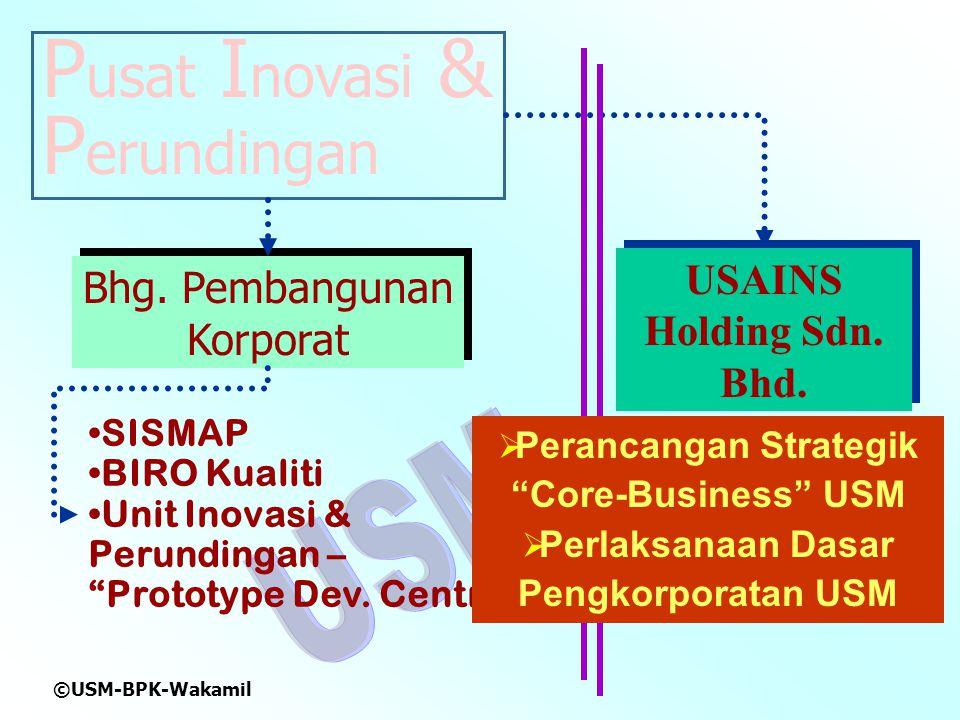 ©USM-BPK-Wakamil P usat I novasi & P erundingan USAINS Holding Sdn.