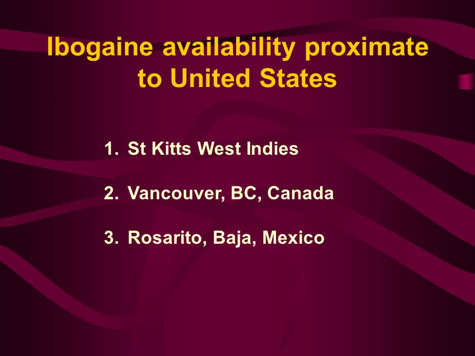 1.Industry deems ibogaine not to be profitable.