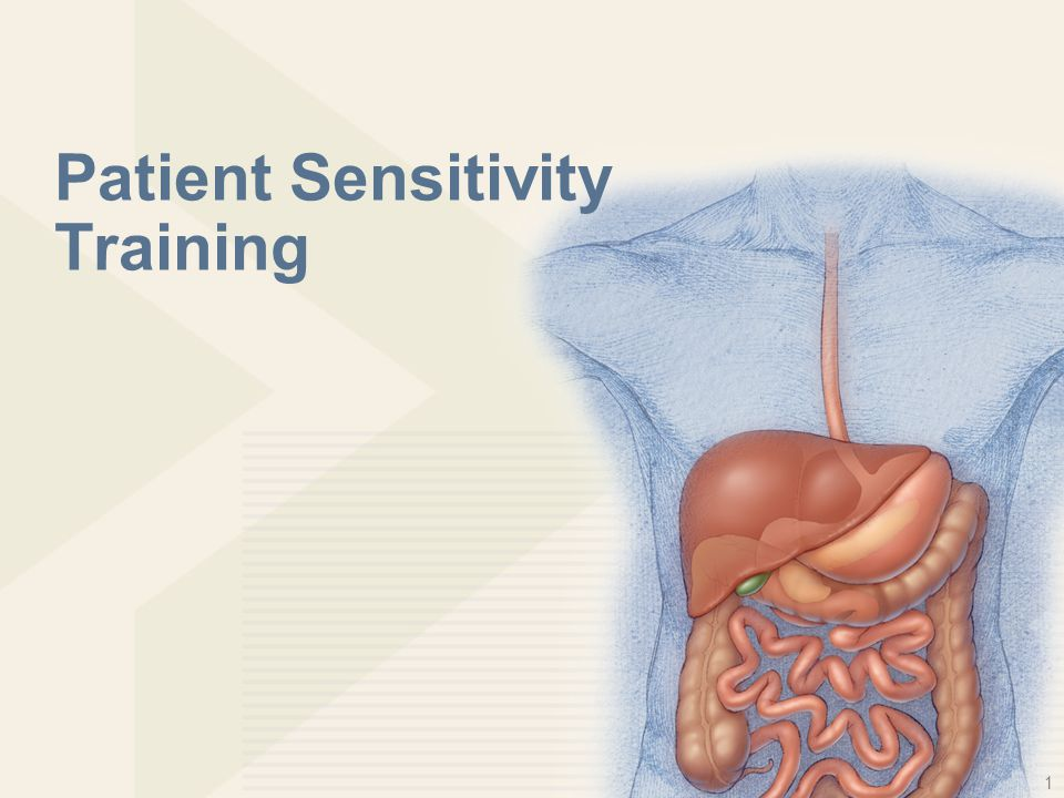 1 Patient Sensitivity Training