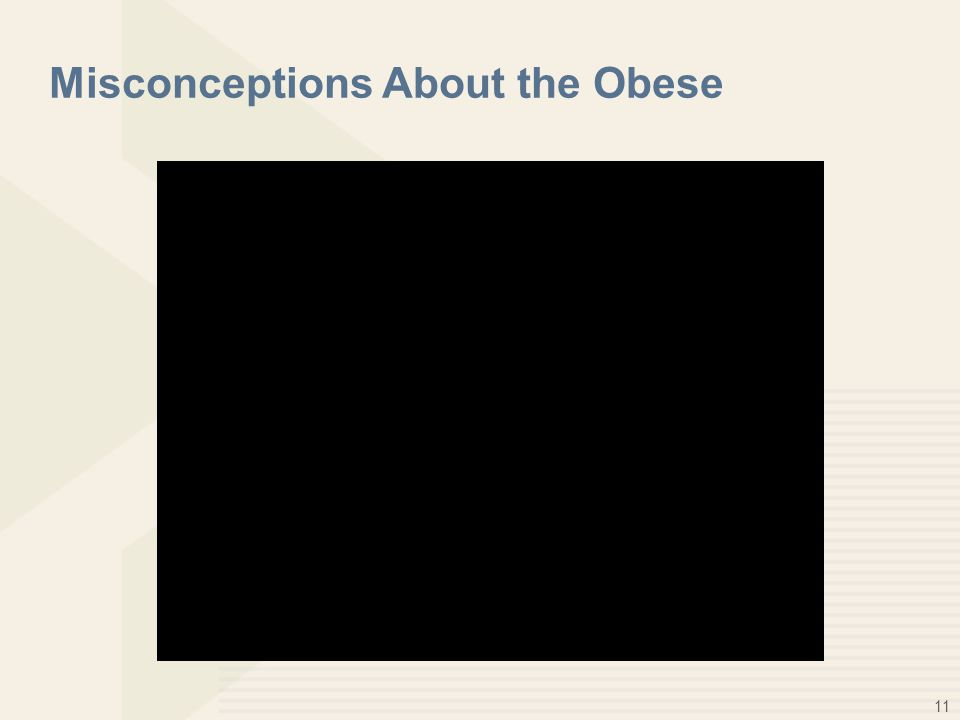 11 Misconceptions About the Obese