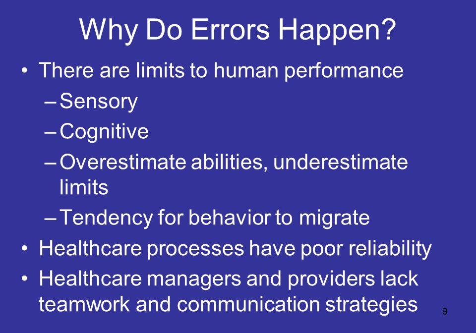 9 Why Do Errors Happen.