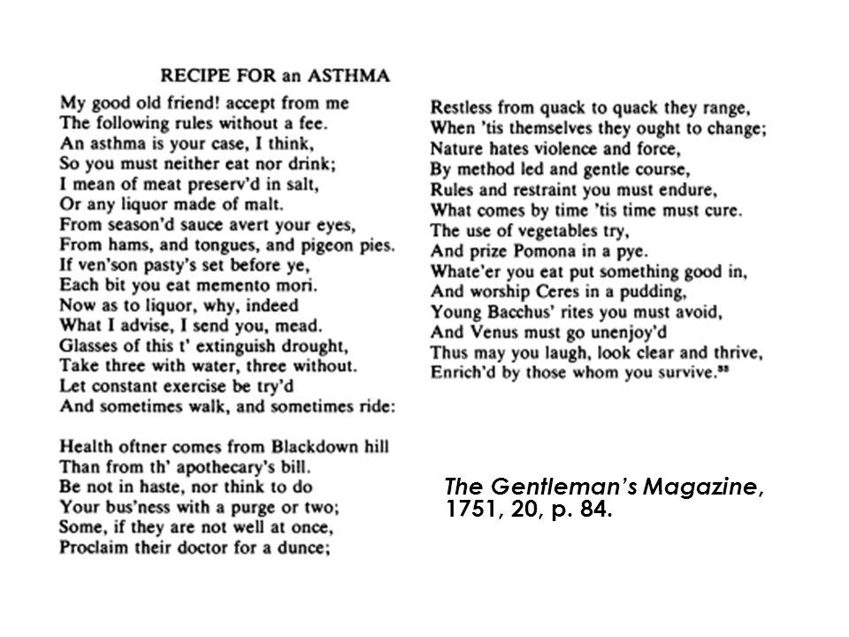 The Gentleman's Magazine, 1751, 20, p. 84.
