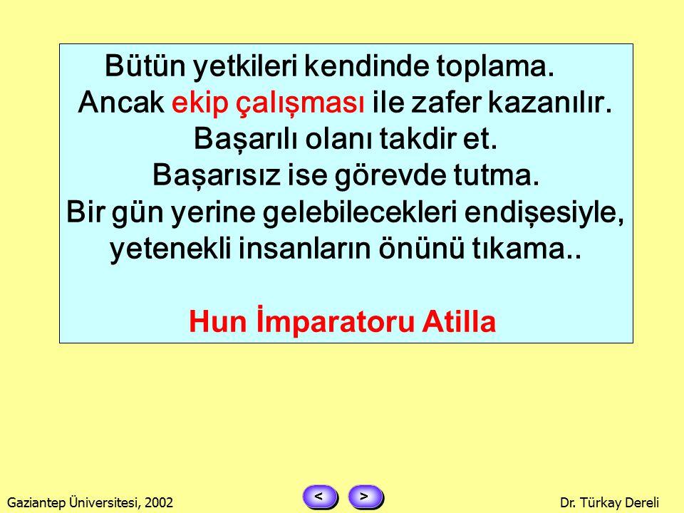 > > < < Gaziantep Üniversitesi, 2002Dr. Türkay Dereli