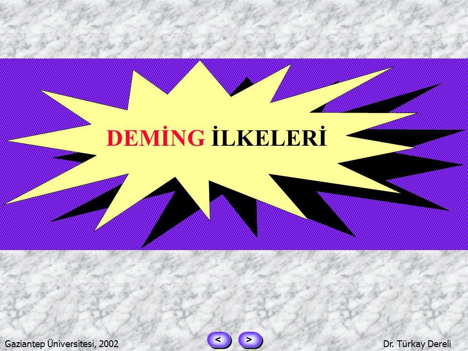 > > < < Gaziantep Üniversitesi, 2002Dr. Türkay Dereli DEMING