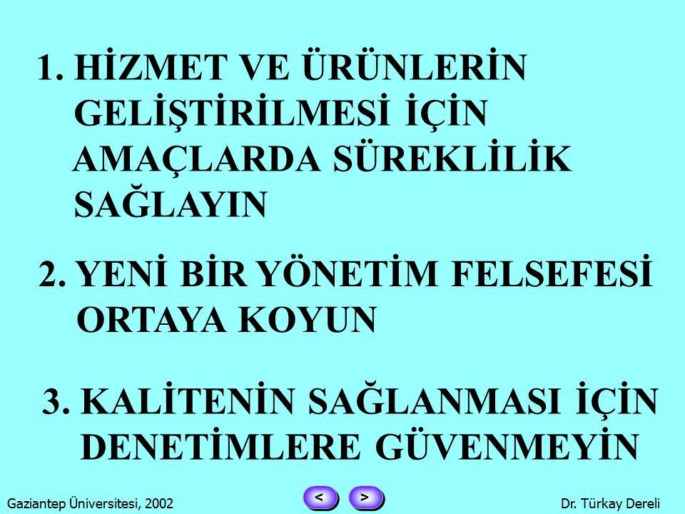 > > < < Gaziantep Üniversitesi, 2002Dr. Türkay Dereli DEMİNG İLKELERİ