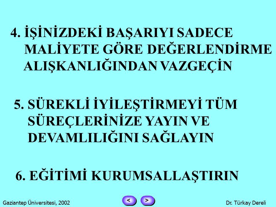 > > < < Gaziantep Üniversitesi, 2002Dr. Türkay Dereli 1.