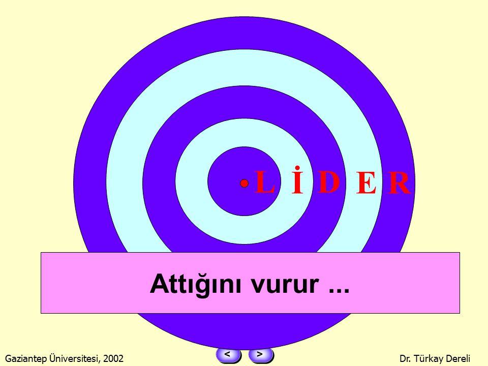 > > < < Gaziantep Üniversitesi, 2002Dr. Türkay Dereli ZİRVE YAPAR ! Liderler, Liderler Zirvesi...