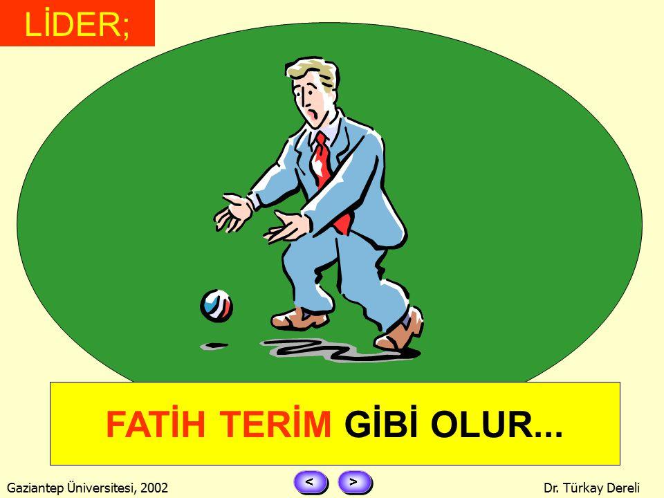 > > < < Gaziantep Üniversitesi, 2002Dr. Türkay Dereli LD ERİ Attığını vurur...