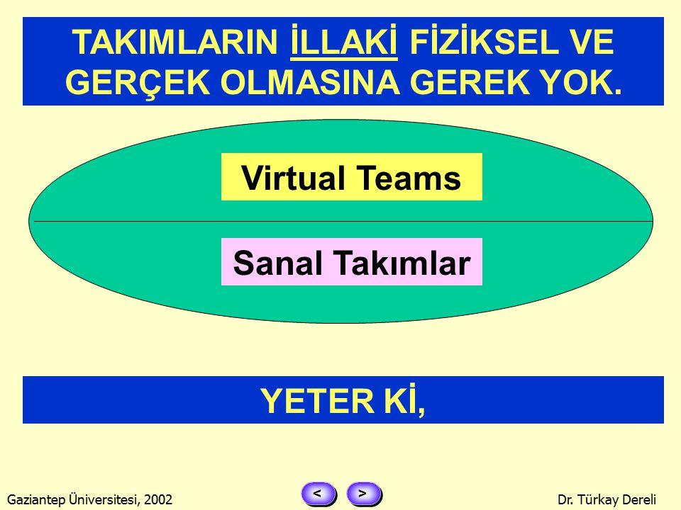 > > < < Gaziantep Üniversitesi, 2002Dr. Türkay Dereli TAKIMLARve YÖNETİMİ YÖNETİMİ NİYE BU FUARDA