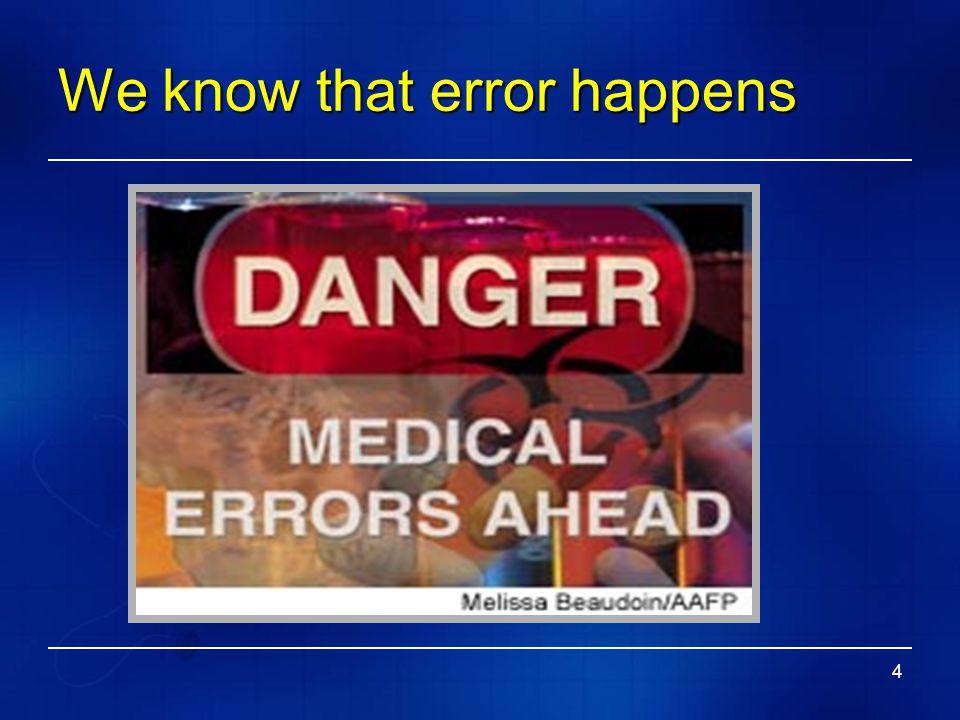 4 We know that error happens