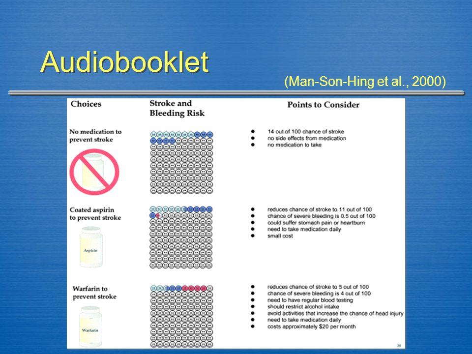 Audiobooklet (Man-Son-Hing et al., 2000)