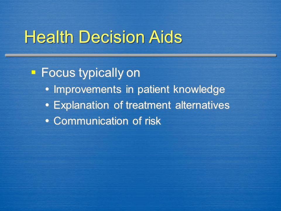 Decision-Support Tool (Thomson et al., 2002)