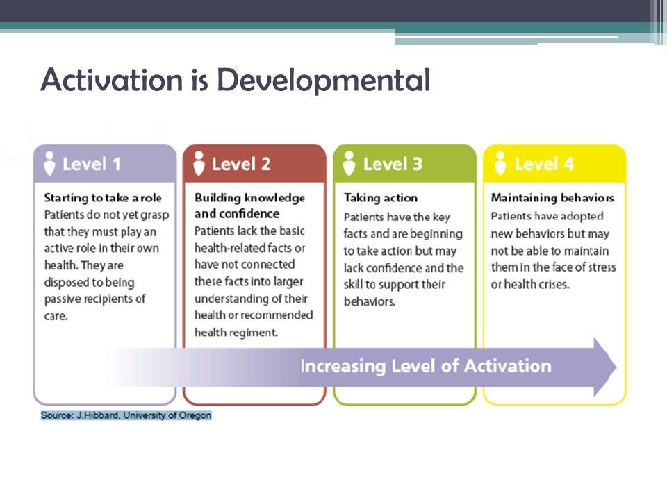 Activation is Developmental