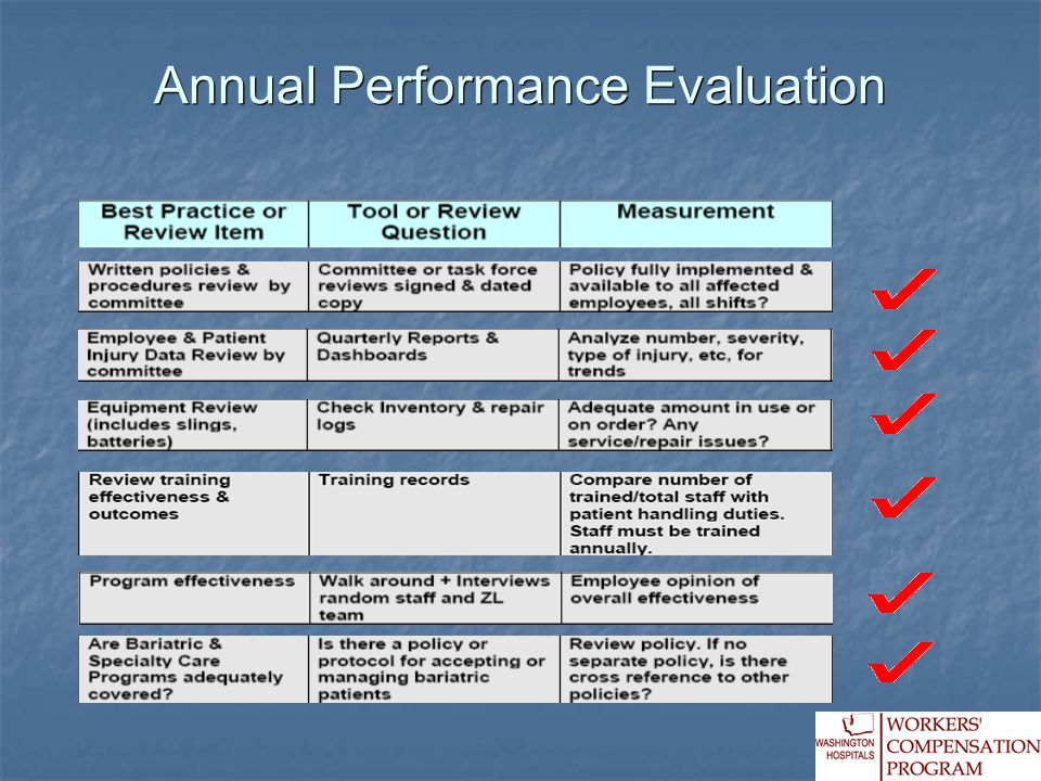 Annual Performance Evaluation