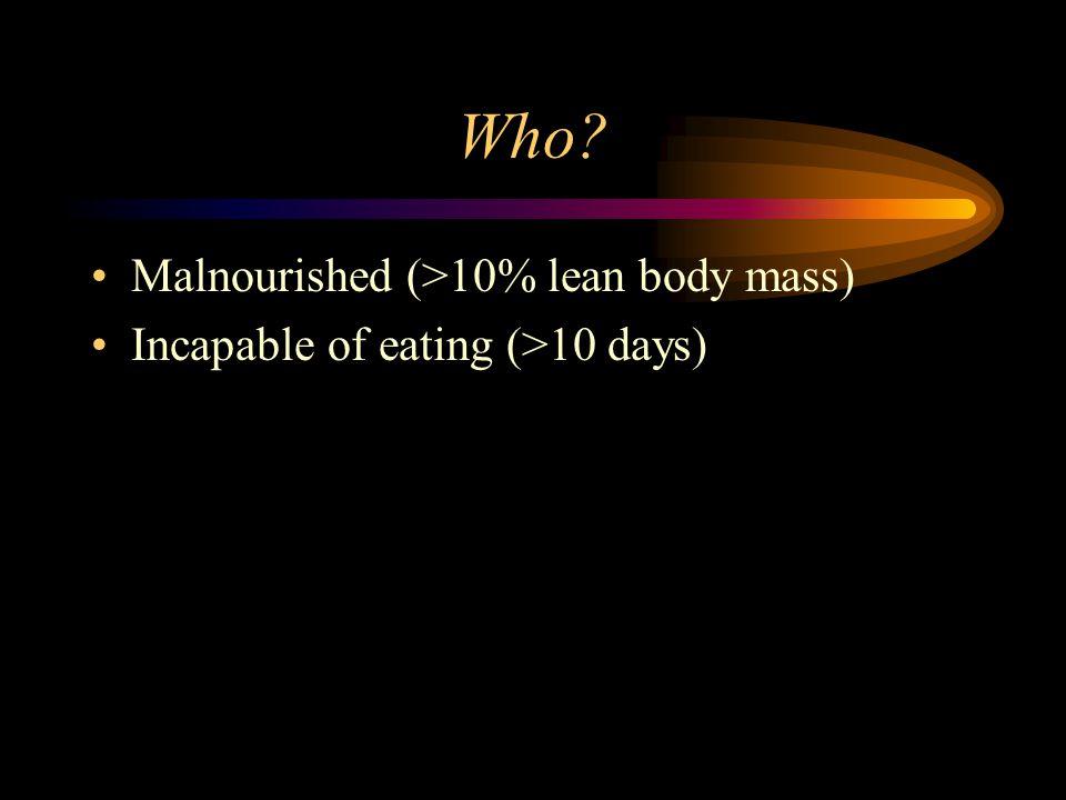 Parenteral Nutrition Immunosuppressive IF...