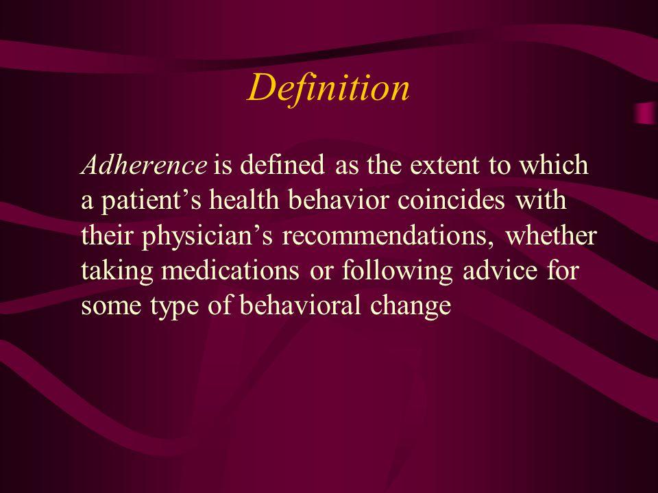 Adherence vs.