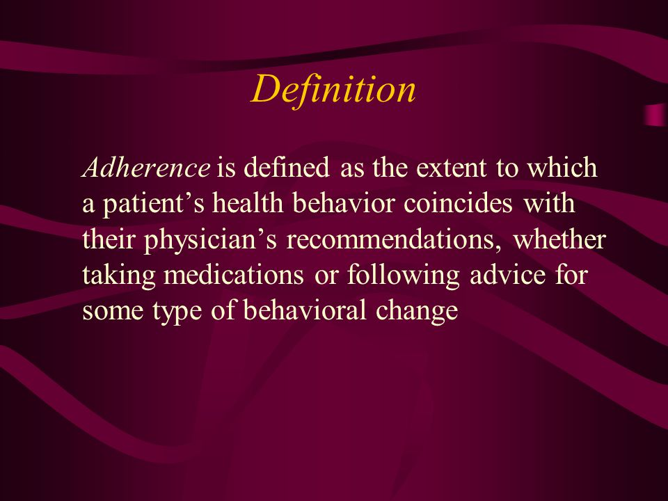 Medication Characteristics Complexity of the regimen Effects of the regimen