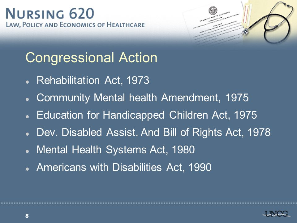 6 Omnibus Budget Reconciliation Act, 1987 l New requirements for nursing homes and home health l Standard for minimum RN staff l Immediate access for relatives l Access to federal and state officials who investigate complaints