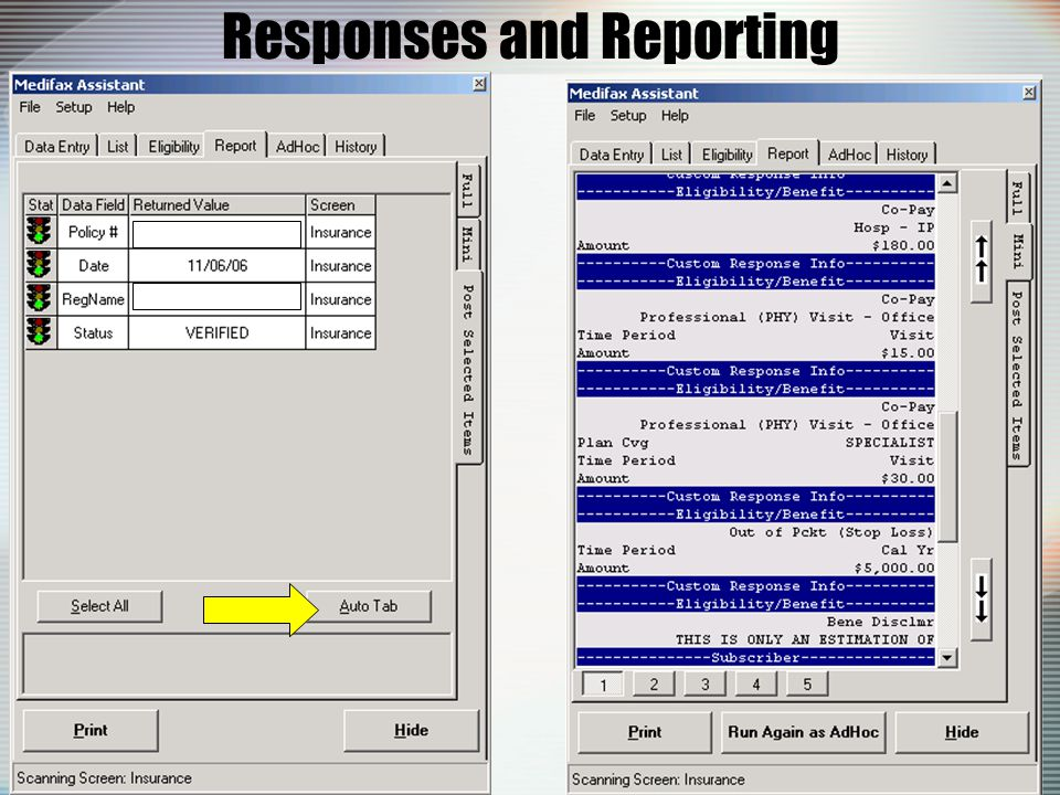 Responses and Reporting