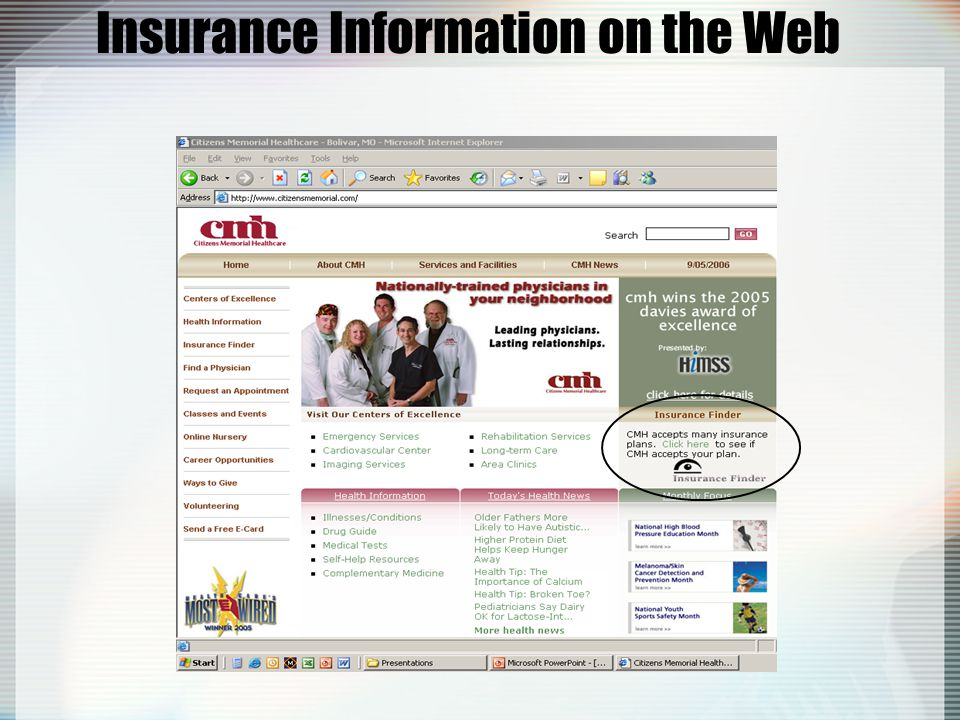 Insurance Information on the Web