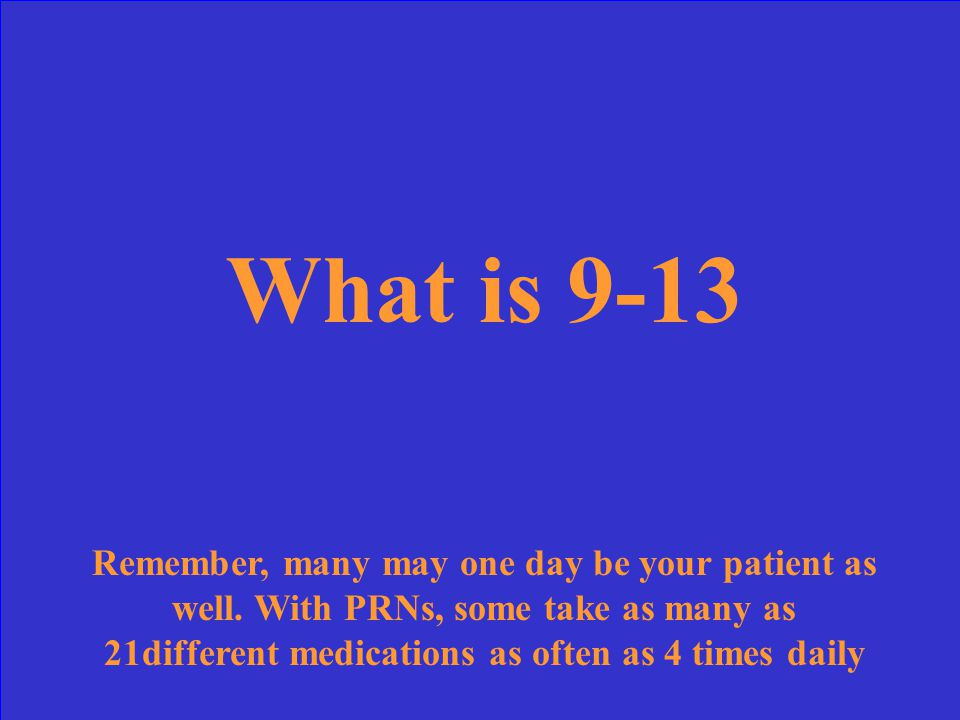 Of between 4-8, 5-10, 9-13, 10-14, what is number of regularly scheduled medications that residents of LTC facilities take daily