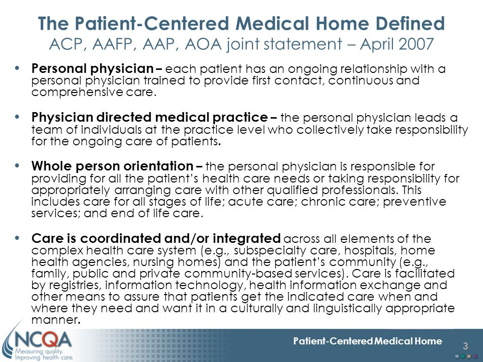 14 Patient-Centered Medical Home Need for tool to measure systems-CCM Response to IOM reports –To Err is Human and Crossing the Quality Chasm both provide evidence on critical importance of systems Change from blaming individual clinicians for mistakes and shortfalls to improving systems so clinicians can succeed Raise awareness of physicians of importance of systems in enhancing quality Research Translation: Link health services research on systems to clinical practice