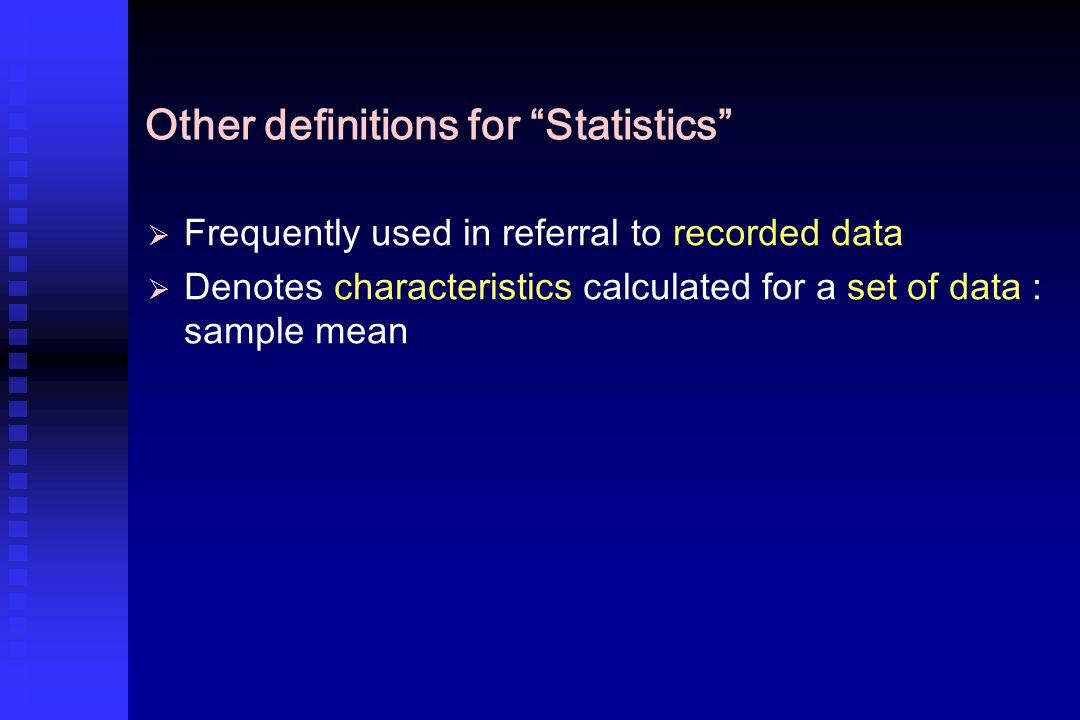 3-Mathematical presentation Summery statistics Measures of location 1- Measures of central tendency 1- Measures of central tendency 2- Measures of non central locations 2- Measures of non central locations (Quartiles, Percentiles ) Measures of dispersion