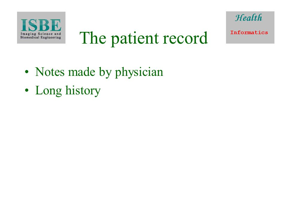 EPR in hospitals Plans since Information for Health – 1998 Few successful implementations (3%)