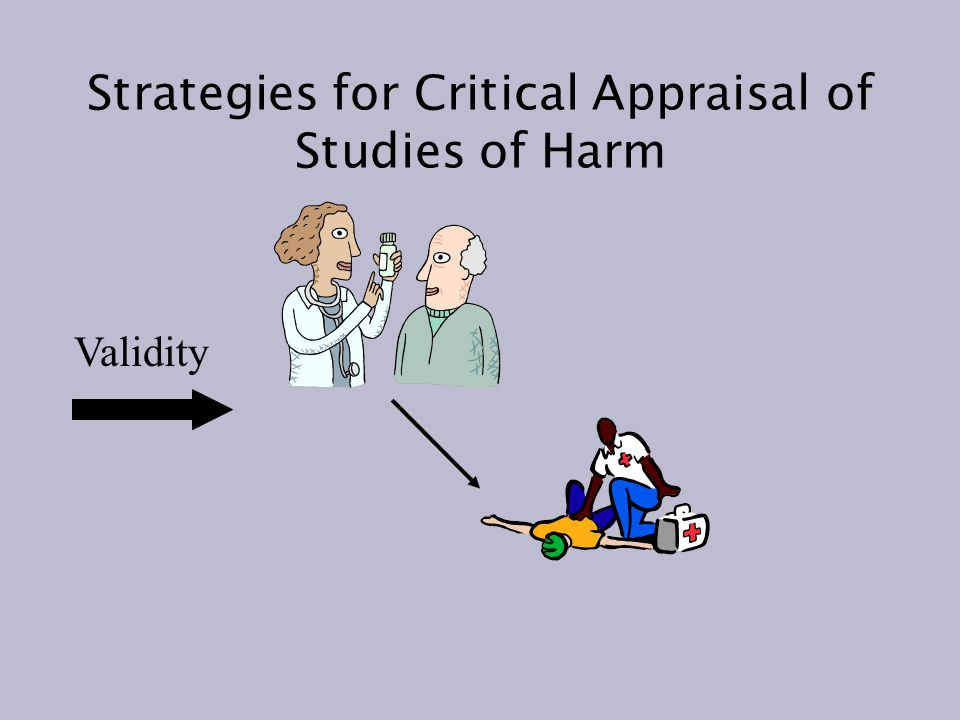 Strategies for Critical Appraisal of Studies of Harm Validity