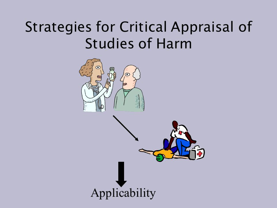 Strategies for Critical Appraisal of Studies of Harm Applicability