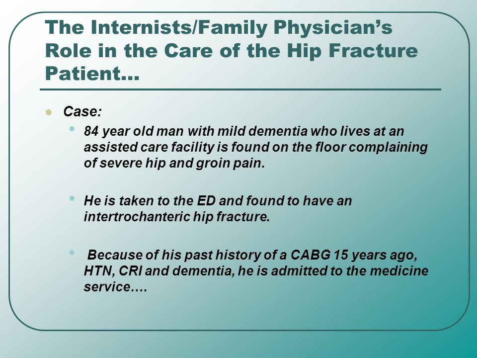 Questions… Men over the age of 90 have a _____% chance of having a hip fracture A.