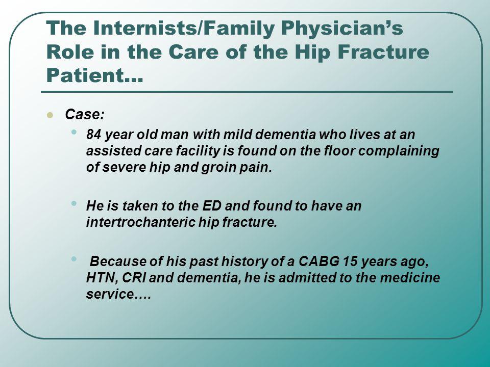 References: Beaupre LA.Best Practices for elderly hip fracture patients.