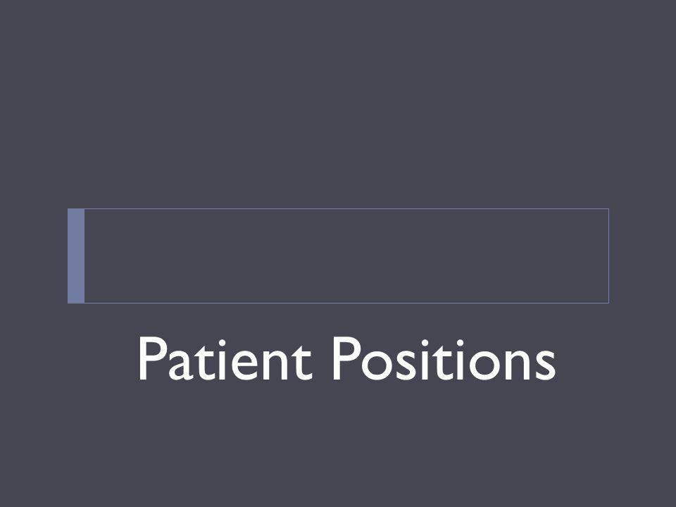 Patient Positions