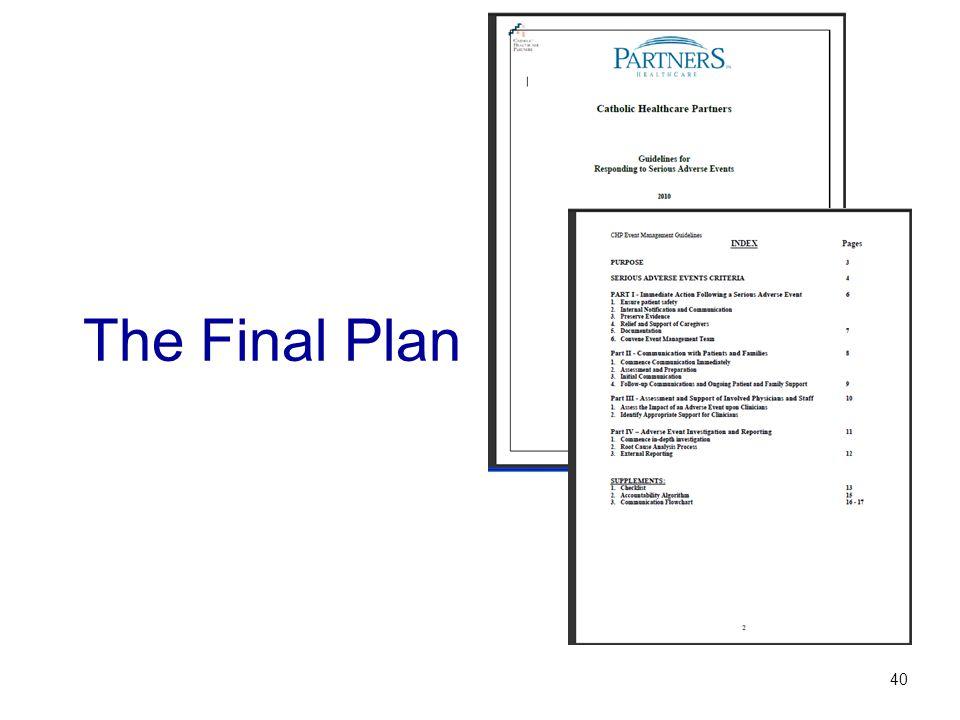 The Final Plan 40