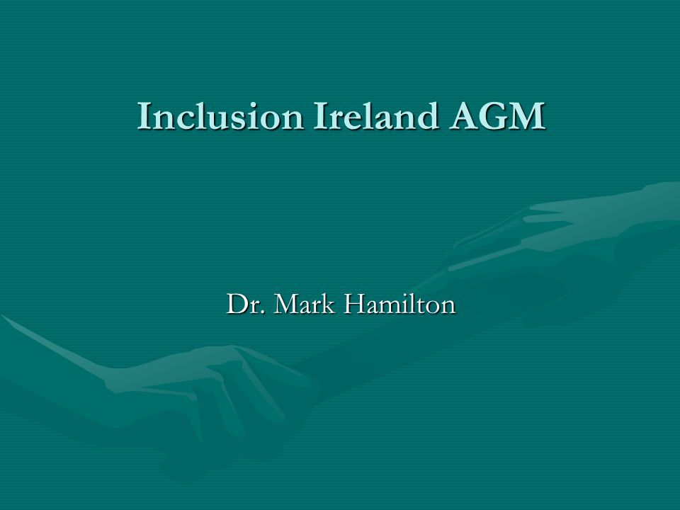 Inclusion Ireland AGM Dr. Mark Hamilton