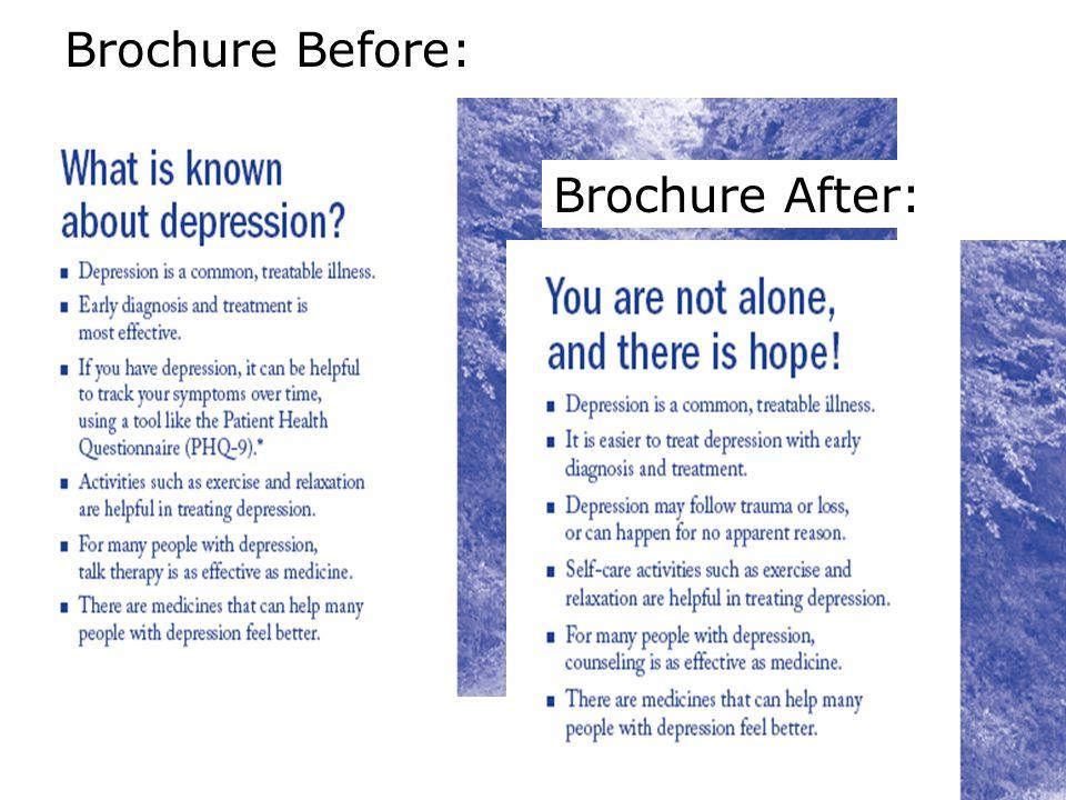 Brochure Before: Brochure After: