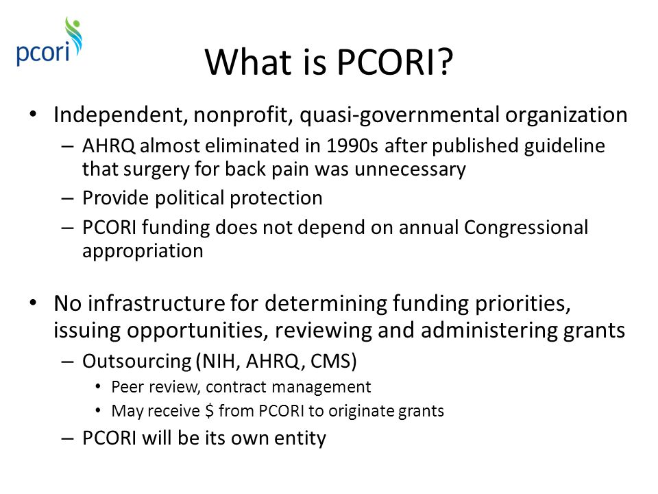 What is PCORI.