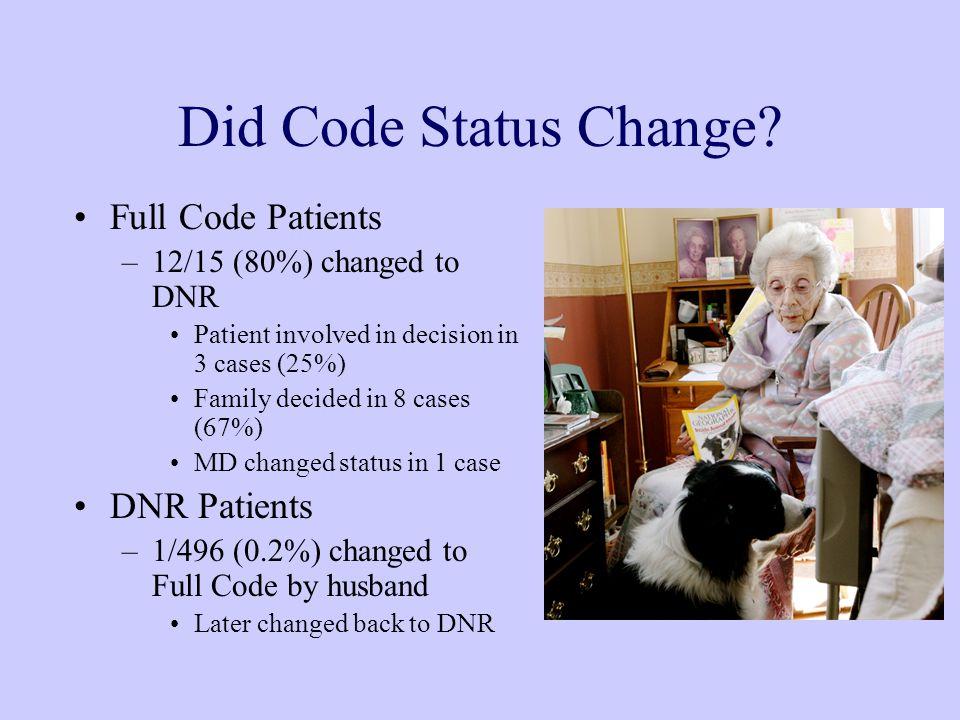 Did Code Status Change.