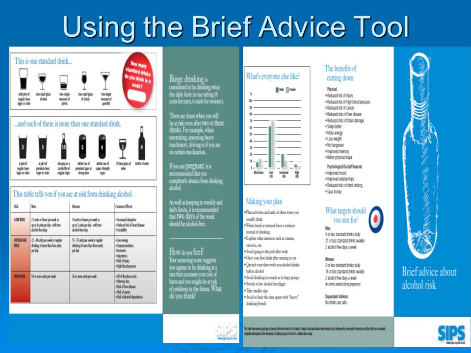 Using the Brief Advice Tool