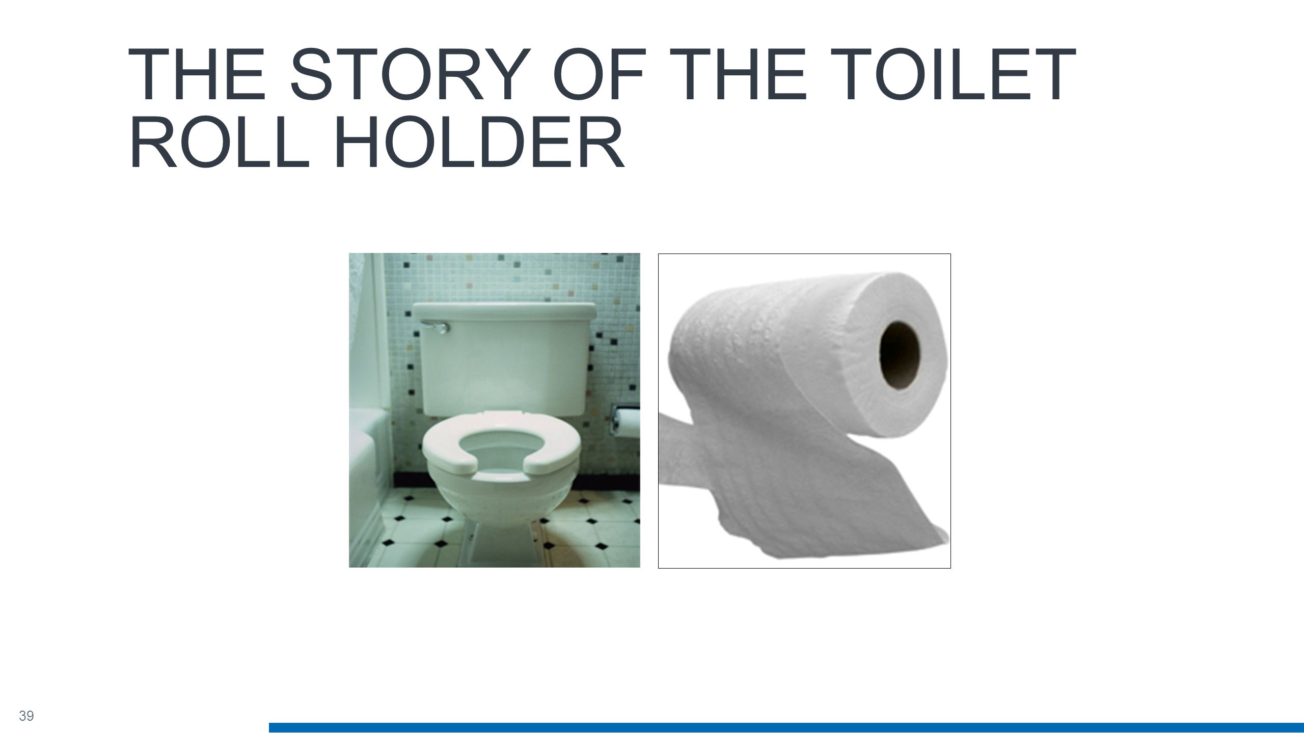 39 THE STORY OF THE TOILET ROLL HOLDER