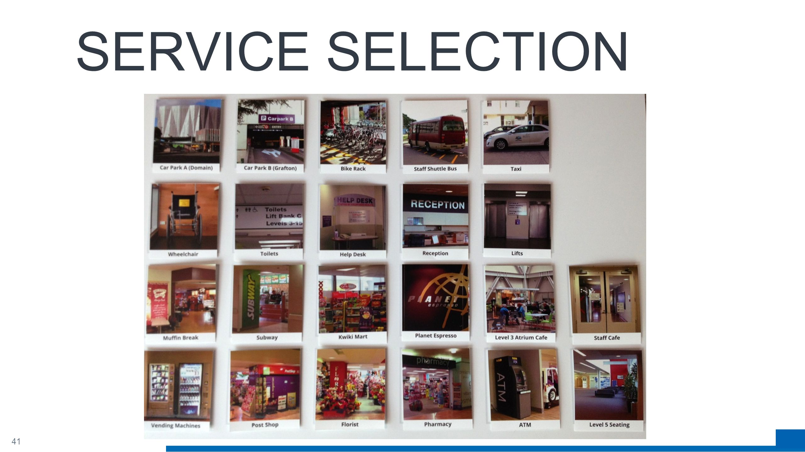 41 SERVICE SELECTION