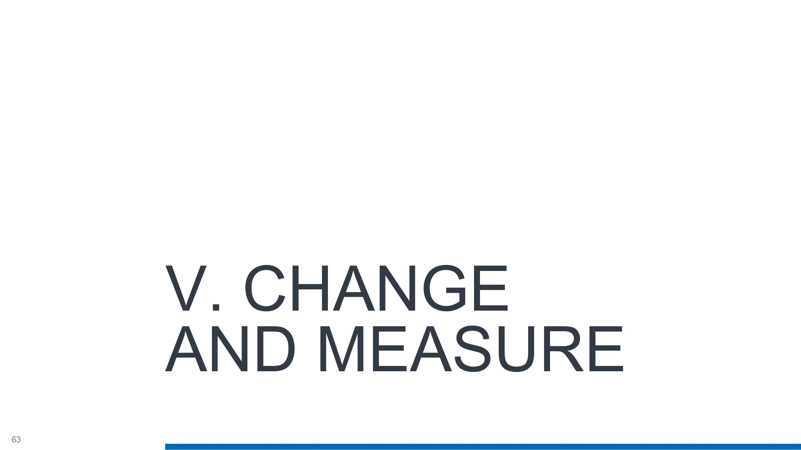 63 V. CHANGE AND MEASURE