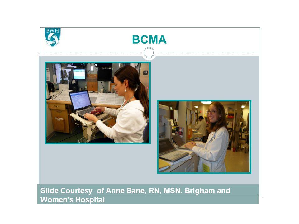 Slide Courtesy of Anne Bane, RN, MSN. Brigham and Women's Hospital BCMA
