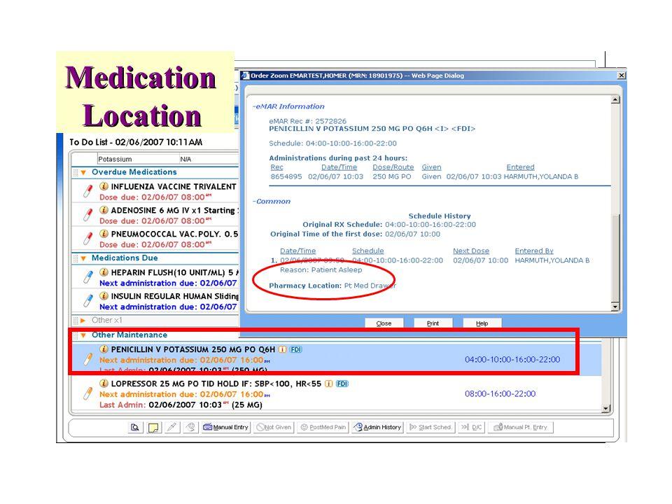 Medication Location