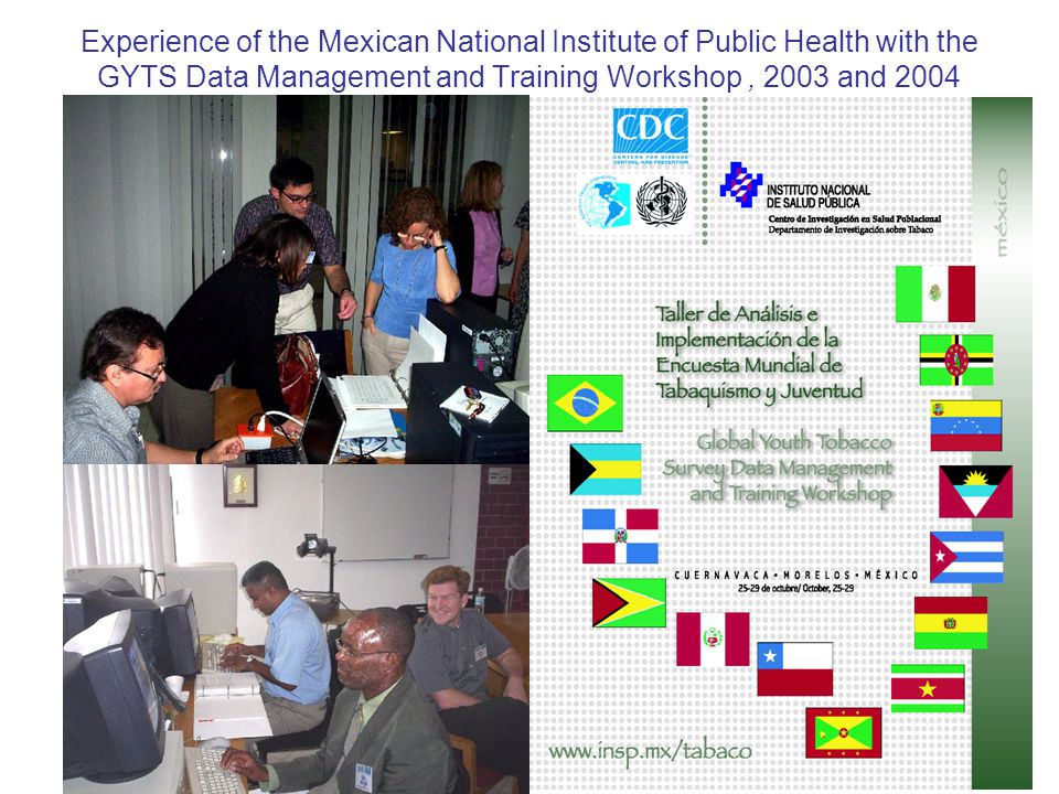 Experience of the Mexican National Institute of Public Health with the GYTS Data Management and Training Workshop, 2003 and 2004