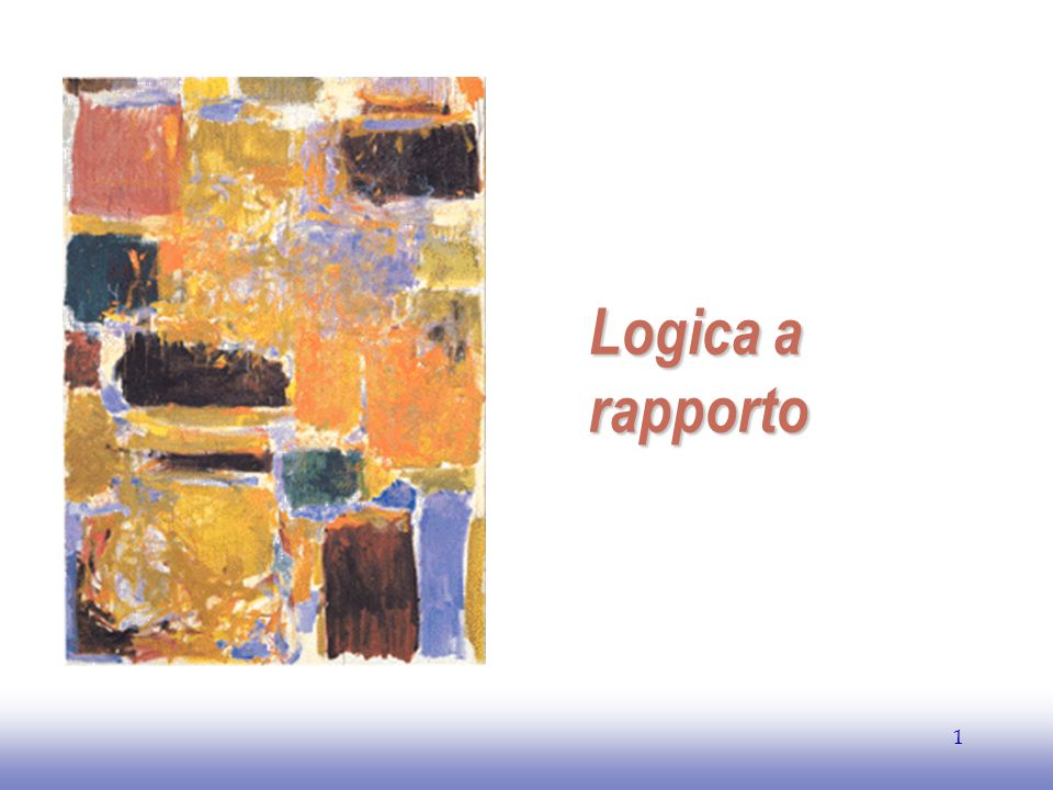 EE141 1 Logica a rapporto