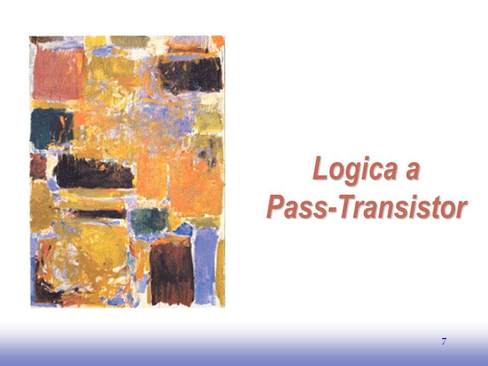 EE141 8 Logica a Pass-Transistor Ingressi Rete di Interruttori Uscita A B B B N transistor Consumo statico nullo
